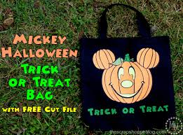 Hello Kitty Halloween Basket by Mickey Halloween Trick Or Treat Bag With Free Cut File The