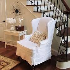 white wing chair slipcover best of the year furniture transformations chair slipcovers