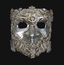 bauta mask venetian bauta mask in macrame silver venetian masks