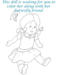 dolls coloring printable page for kids 20