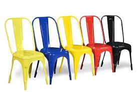 buy nova metal chair yellow online at best price