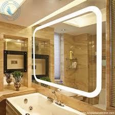 Backlit Bathroom Vanity Mirrors Bathrooms Design Mirror With Built In Lights Backlit Vanity