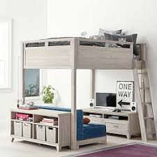 Bunk Bed Computer Desk Loft Beds Bunk Beds Pbteen