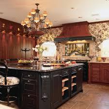 black and cherry kitchen island in