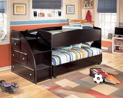 signature design by ashley embrace twin loft bed with left storage