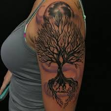 family tree sleeve tattoos tree sleeve