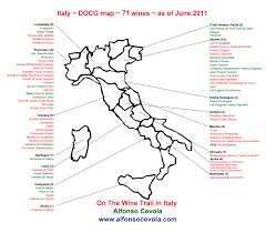Campania Italy Map by Summer Blockbuster Season Begins Italian Wine Docg Map For The