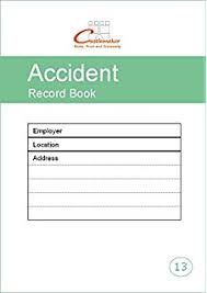 accident reporting book ivy accident report book amazon co uk health u0026 personal care