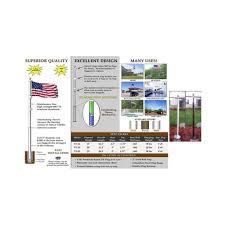Making A Flag Pole Amazon Com 20 U0027 Telescoping Silver Titan Flagpole W Flag