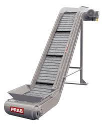 open frame steel belt conveyor designed for quick scrap removal