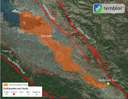 Santa Clara Map Is Anderson Dam An Accident Waiting To Happen Temblor Net