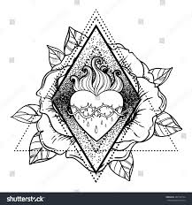 sacred heart jesus vector illustration isolated stock vector