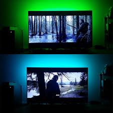 led strip lights for tv tv or pc background led lighting strip u2013 pandafoo