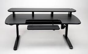 ergo cascade height adjustable desk with keyboard section martin