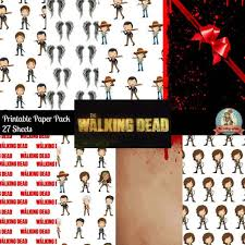 walking dead wrapping paper 245 best craft walking dead images on scrapbook