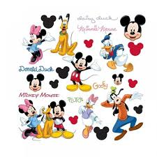 mickey mouse and his friends stickers great kidsbedrooms the home mickey mouse and his friends stickers