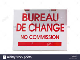 bureau de change commission bureau de change no commission shop sign stock photo 53798398 alamy