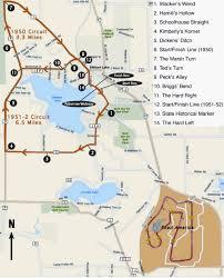 Wisconsin Lake Maps Historic Race Circuits Of Elkhart Lake Location