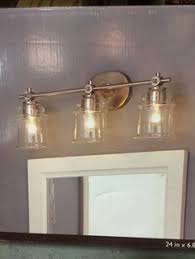Allen And Roth Vanity Lights 74 Shop Allen Roth 3 Light Merington Brushed Nickel Standard