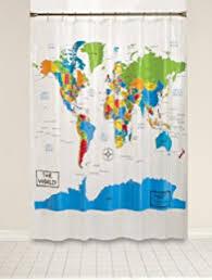 World Curtains Amazon Com Amazing Shower Curtains 2017 Best Quality World Map