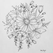 Flower Drawings Black And White - the 25 best peony drawing ideas on pinterest peony peony