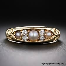 the pearls wedding band engagement wedding rings