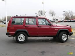 burgundy jeep wrangler 2 door 1992 red jeep cherokee sport 4x4 4825407 photo 5 gtcarlot com