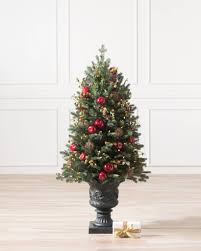 potted christmas tree spruce potted christmas tree balsam hill