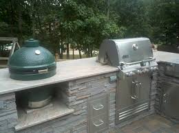 big green egg with white trim porch traditional and contemporary