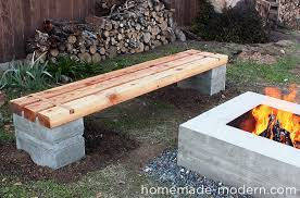 Designer Wooden Garden Bench by Homemade Modern Ep57 Outdoor Concrete Bench
