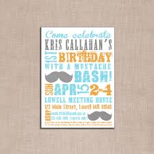 mustache party invitations for girls birthday party dresses