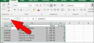 how to assign a name to a range of cells in excel