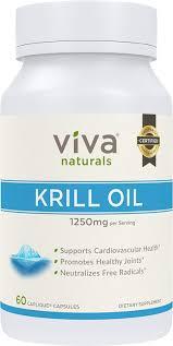 viva naturals krill oil 100 pure antarctic krill oil 1250