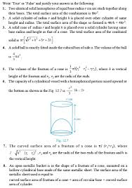 class 10 important questions for maths u2013 surface areas and volumes