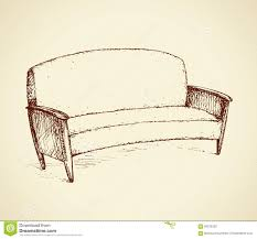 Couch Drawing Sofa Vector Drawing Stock Vector Image 84232320