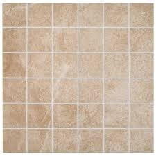 ceramic mosaic tile the home depot portland stone beige ceramic mosaic tile