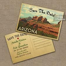 vintage save the date arizona save the date postcard vintage travel sedona arizona