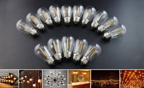 Led Light Bulbs 2700k by Brimax Filament S14 Led Light Bulbs Dimmable Clear Glass 2700k