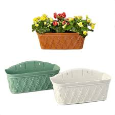 Planters And Pots Wall Mounted Flower Halls Indoor And Outdoor Wall Rectangular