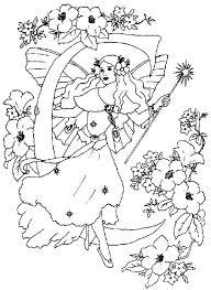 letter alphabet fairy friend coloring pages
