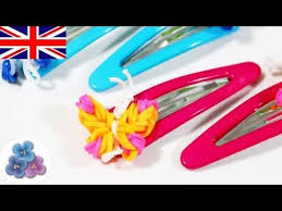 make loom band hair pins how to make butterflies hair clip with rainbow loom easy diy