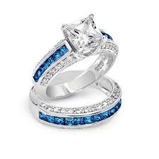 blue wedding rings blue diamond wedding ring sets blue diamond engagement rings