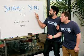 Thechive Challenge Shirts Vs Skins Chivettes Challenge Editors To A Of Hoops