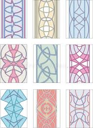 set of ornamental patterns in mannerism style stock vector image