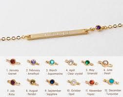 custom birthstone bracelets birthstone bracelet etsy