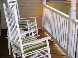 Rocker Cushions Lovely White Rocking Chair Outdoor Design Remodeling