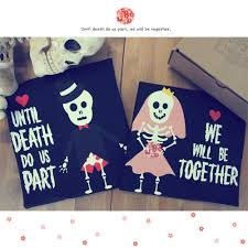 Couples Halloween Shirts by Cute Skeleton Wedding Matching Couple From 365 Printing Inc