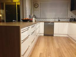 mitred waterfall laminate benchtops are achieved for a modern