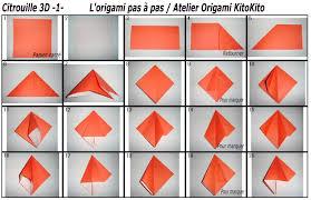 origami halloween atelier origami kitokito citrouille 3d 1 pour