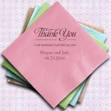 printed wedding napkins thank you printed wedding napkins set of 100